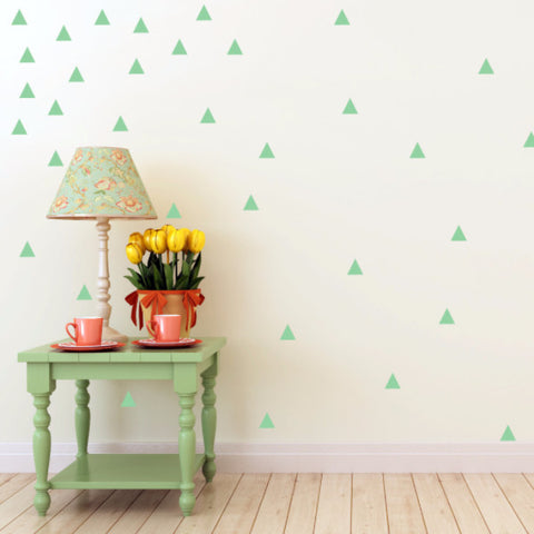 Triangle Wall Decals - Set of 100 - Create & Ship