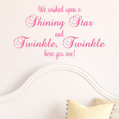 Twinkle Twinkle Wall Decal - Create & Ship