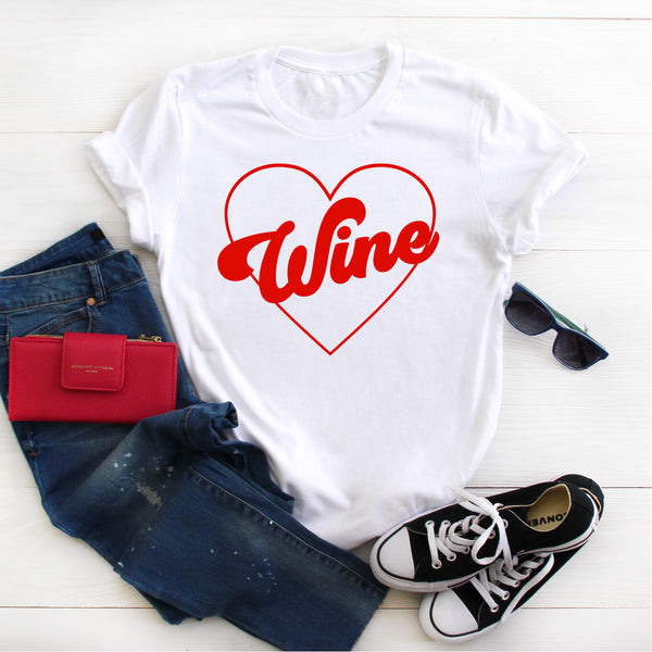 WINE HEART UNISEX SHIRT