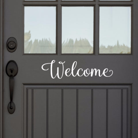 Welcome Door Decal - Create & Ship