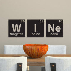 Wine Periodic Table Wall Decal - Create & Ship