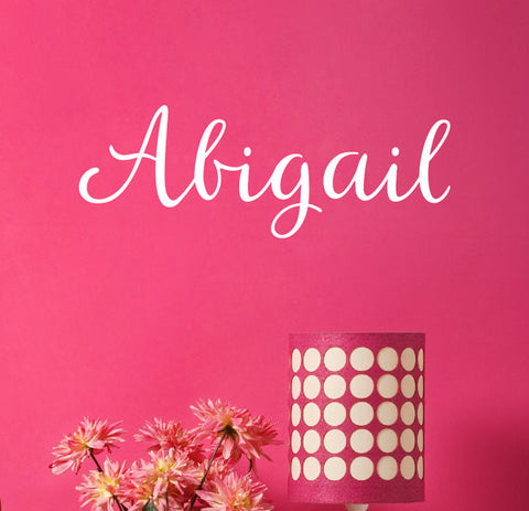 Abigail Name Wall Decal - Create & Ship