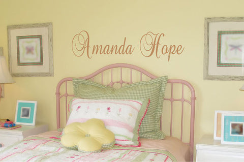 Amanda Hope Name Wall Decal - Create & Ship