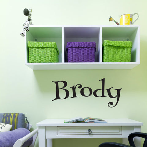 Brody Name Wall Decal - Create & Ship