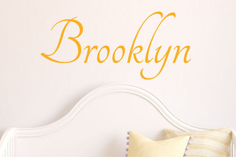 Brooklyn Name Wall Decal - Create & Ship