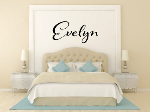 Evelyn Name Wall Decal - Create & Ship