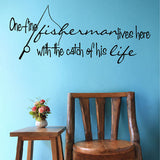One Fine Fisherman Wall Decal - Create & Ship