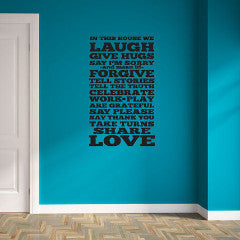 In This House Wall Decal - Create & Ship