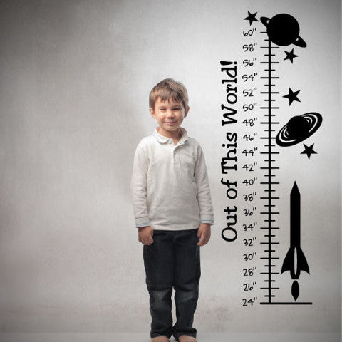Out of This World Growth Chart Wall Decal - Create & Ship