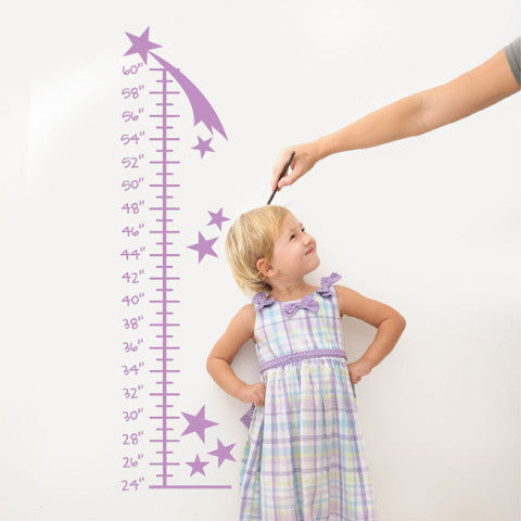 Star Growth Chart Wall Decal - Create & Ship