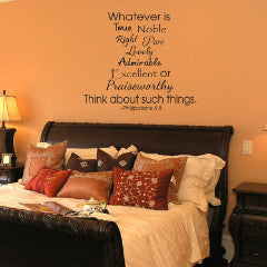 Philippians 4:8 Wall Decal - Create & Ship