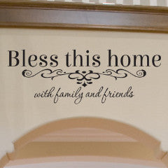 Bless This Home Wall Decal - Create & Ship