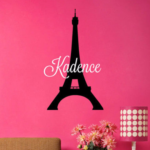 Eiffel Tower Name Decal - Create & Ship