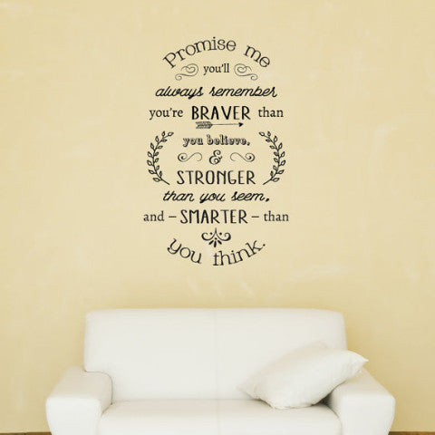 Promise Me You'll Always Remember Wall Decal - Create & Ship