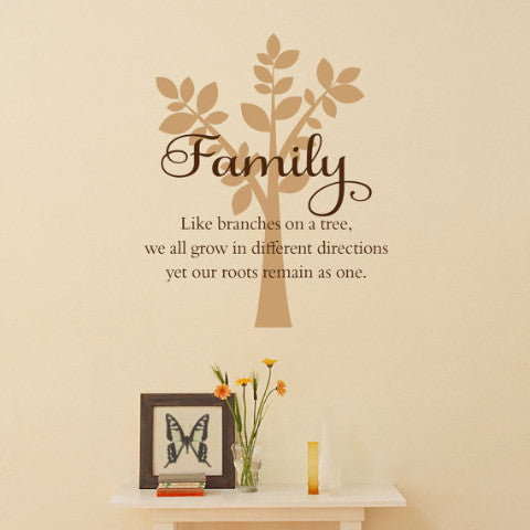 Family Wall Decal - Create & Ship