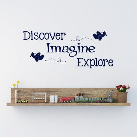 Discover Imagine Explore Wall Decal - Create & Ship