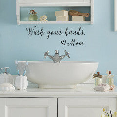 Wash Your Hands Wall Decal - Create & Ship