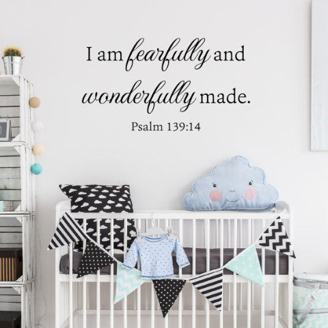 Psalm 139:14 Wall Decal - Create & Ship