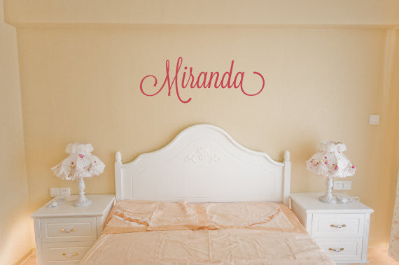 Miranda Name Wall Decal - Create & Ship