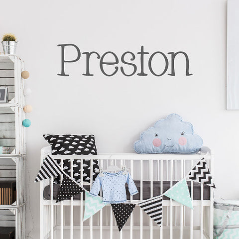 Preston Name Wall Decal - Create & Ship