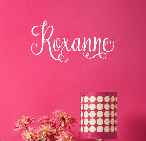 Roxanne Name Wall Decal - Create & Ship