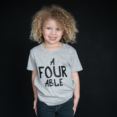 """A-Four-Able"" Unisex Fit Tee - The Talking Shirt"