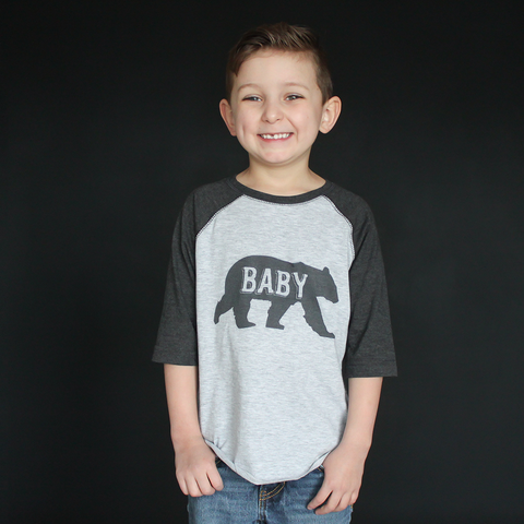"""Baby Bear"" Raglan - The Talking Shirt"