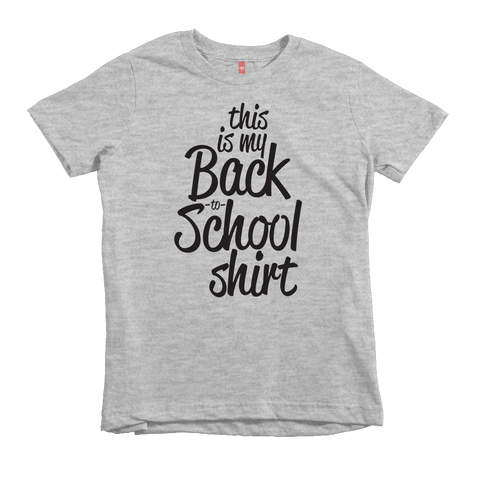 """This Is My Back To School Shirt"" Unisex Fit Tee - The Talking Shirt"