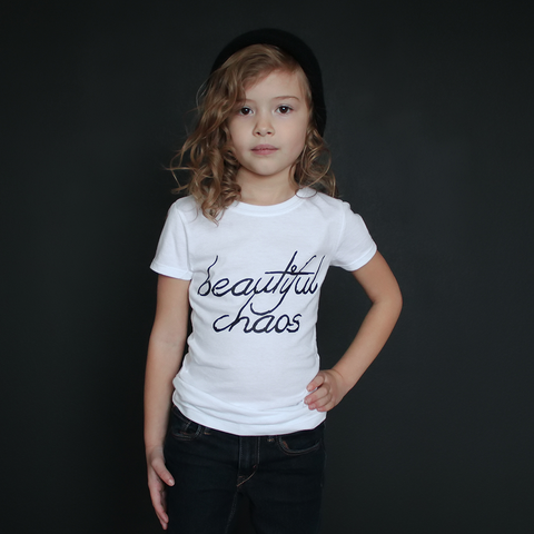 """Beautiful Chaos"" Fitted Tee - The Talking Shirt"