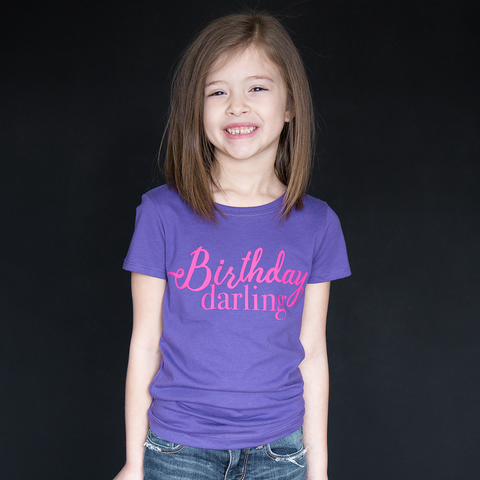 """Birthday Darling"" Fitted Tee - The Talking Shirt"
