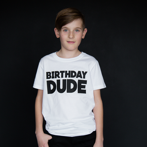 """Birthday Dude"" Unisex Fit Tee - The Talking Shirt"