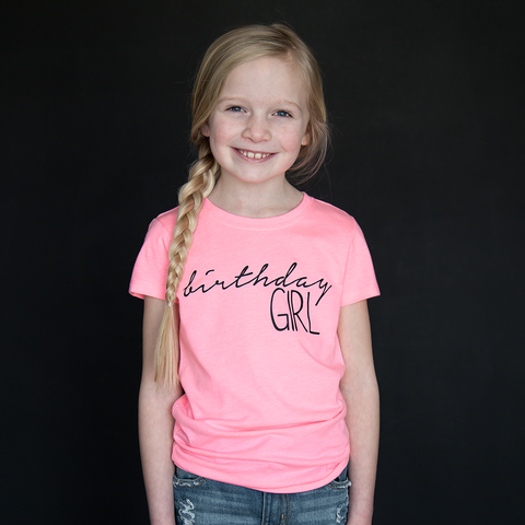 """Birthday Girl"" Fitted Tee - The Talking Shirt"
