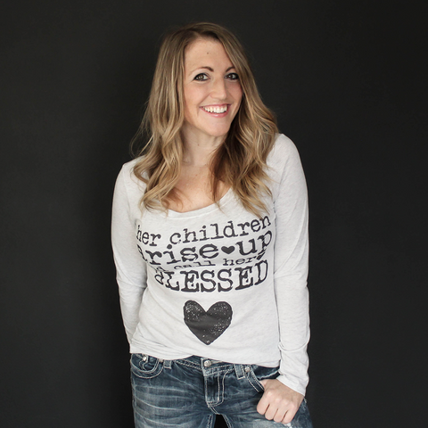"""Her Children"" Fitted Long-Sleeve Tee - The Talking Shirt"
