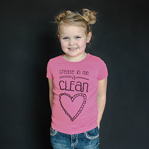 """Create in Me a Clean Heart"" Fitted Tee - The Talking Shirt"