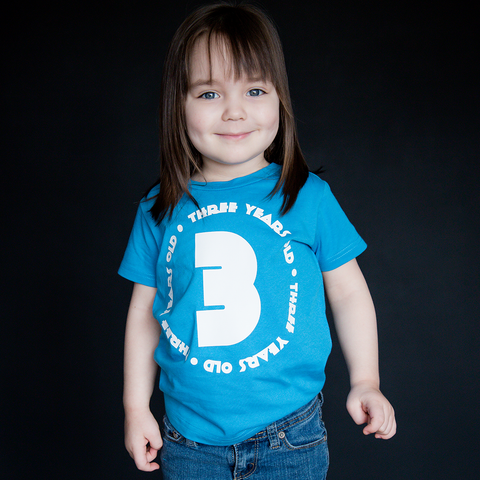 """Three Year Old"" Unisex Fit Tee - The Talking Shirt"
