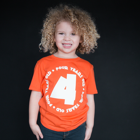 """Four Year Old"" Unisex Fit Tee - The Talking Shirt"