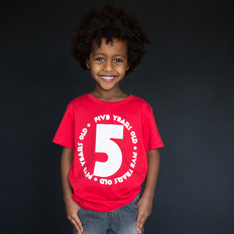"""Five Year Old"" Unisex Fit Tee - The Talking Shirt"