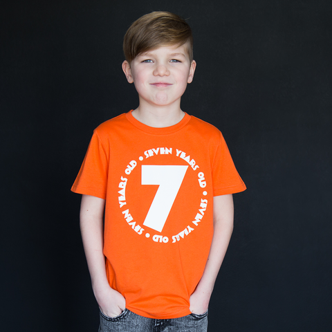 """Seven Year Old"" Unisex Fit Tee - The Talking Shirt"