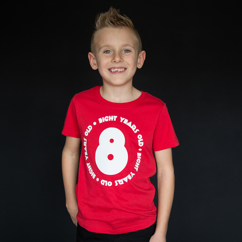 """Eight Year Old"" Unisex Fit Tee - The Talking Shirt"