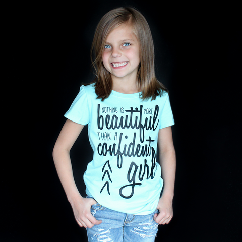 """Confident Girl"" Fitted Tee - The Talking Shirt"