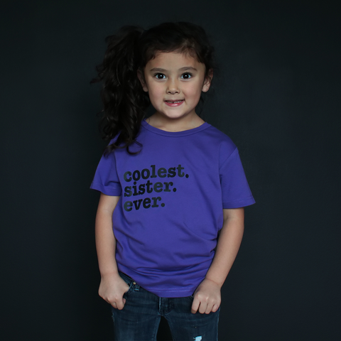 """Coolest Sister Ever"" Fitted Tee - The Talking Shirt"