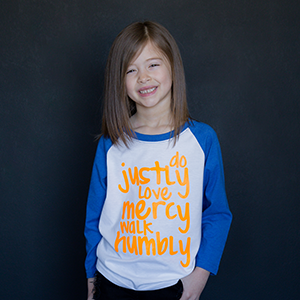 """Do Justly"" Raglan - The Talking Shirt"