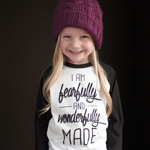 Fearfully and Wonderfully Made Raglan - The Talking Shirt