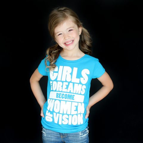 """Girls With Dreams"" Fitted Tee - The Talking Shirt"