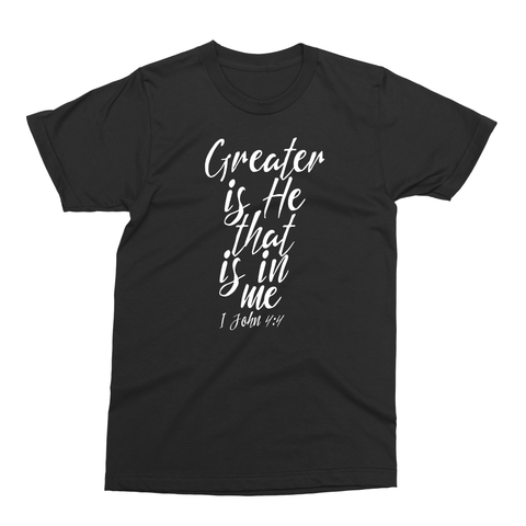 "1 John 4:4 ""Greater"" Youth Unisex Tee"