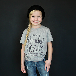 """I Have Decided To Follow Jesus"" Unisex Fit Tee - The Talking Shirt"