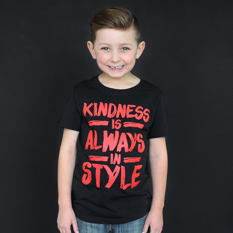 "Black and Red ""Kindness"" Unisex Fit Tee - The Talking Shirt"