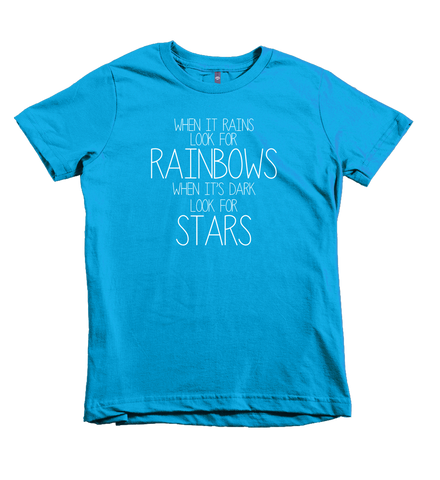 """When It Rains Look for Rainbows"" Unisex Fit Tee"