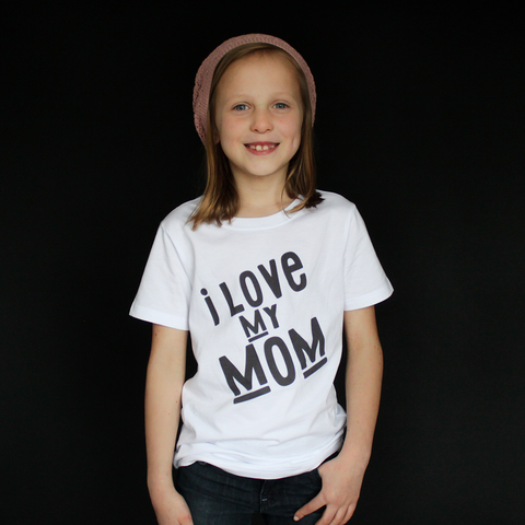 """I Love My Mom"" Unisex Fit Tee - The Talking Shirt"