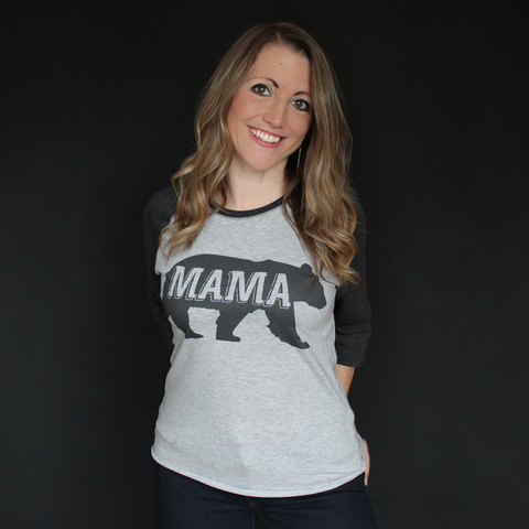 """Mama Bear"" Raglan - The Talking Shirt"